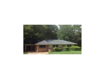 Montgomery AL Single Family Home For Sale: $42,500