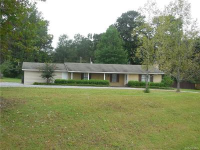Wetumpka Single Family Home For Sale: 2530 Williams Road