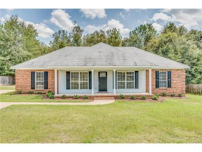 Wetumpka Single Family Home For Sale: 3523 Dozier Road