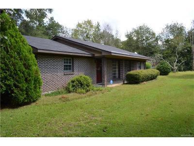 Wetumpka Single Family Home For Sale: 1205 McCain Road