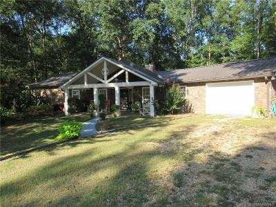 Wetumpka Single Family Home For Sale: 262 Butler Lake Road