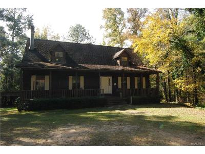 Wetumpka Single Family Home For Sale: 1845 Marshell Road
