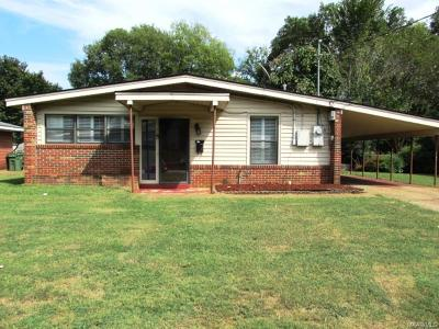 Montgomery AL Single Family Home For Sale: $64,900