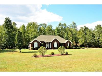Wetumpka Single Family Home For Sale: 1541 Grier Road