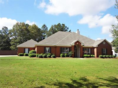 Wetumpka Single Family Home For Sale: 1265 Emerald Mountain Parkway