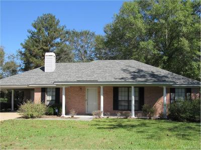 Wetumpka Single Family Home For Sale: 1366 Crenshaw Road