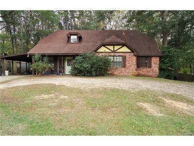 Wetumpka Single Family Home For Sale: 144 Shawnee Drive