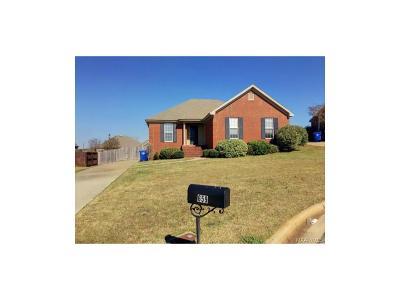 Prattville Single Family Home For Sale: 659 Little Farm Road