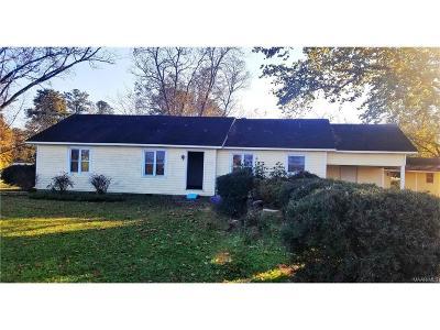 Wetumpka Single Family Home For Sale: 10046 Georgia Road
