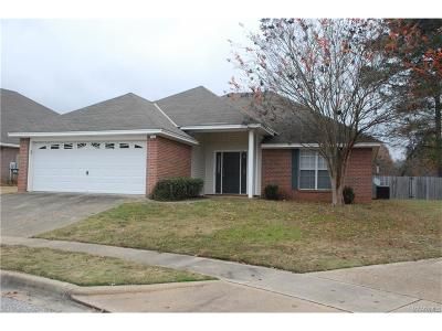 Wetumpka Single Family Home For Sale: 454 River Oaks Drive
