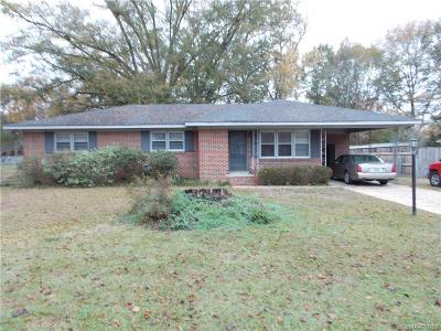 Wetumpka Single Family Home For Sale: 102 Lee Street