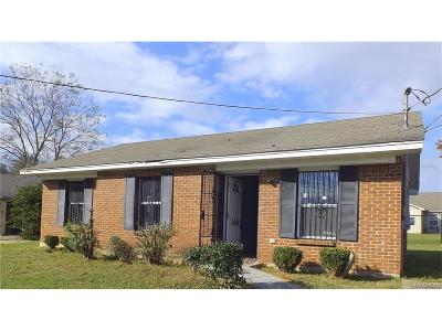 Montgomery AL Single Family Home For Sale: $12,500
