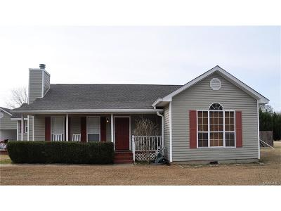 Wetumpka Single Family Home For Sale: 263 S Jordan Dam Road