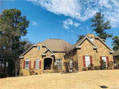 Wetumpka Single Family Home For Sale: 59 Sycamore Ridge