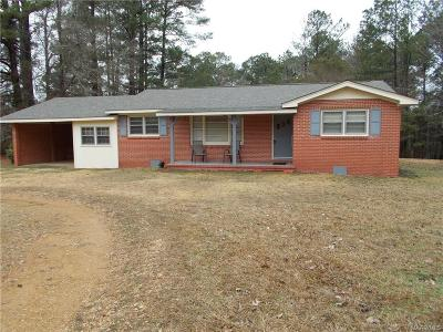 Wetumpka Single Family Home For Sale: 5473 Georgia Road