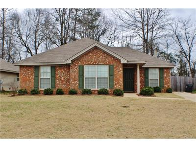 Wetumpka Single Family Home For Sale: 168 King Cotton Lane