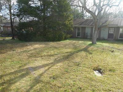 Montgomery AL Single Family Home For Sale: $28,500