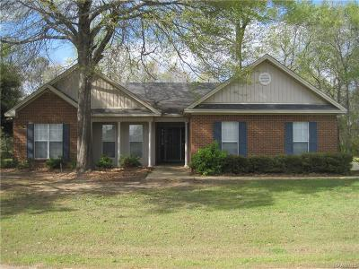 Wetumpka Single Family Home For Sale: 106 Redland Bluff Drive
