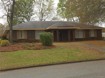 Montgomery AL Single Family Home For Sale: $136,000