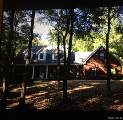 Wetumpka Single Family Home For Sale: 1039 Whitmanfield Road
