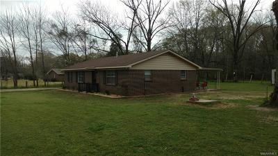 Prattville Single Family Home For Sale: 1883 County Road 40 Road W