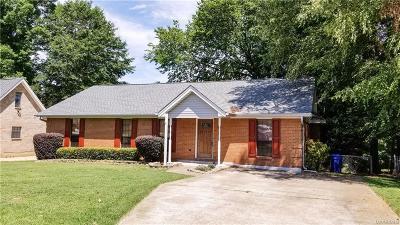 Prattville AL Single Family Home For Sale: $165,000