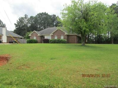 Wetumpka Single Family Home For Sale: 2611 Mitchell Creek Road