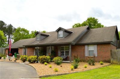Wetumpka Single Family Home For Sale: 416 Shawnee Drive