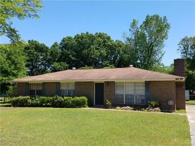 Wetumpka Single Family Home For Sale: 24 1st Street