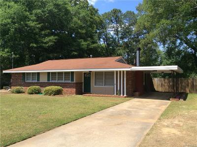 Montgomery AL Single Family Home For Sale: $96,000