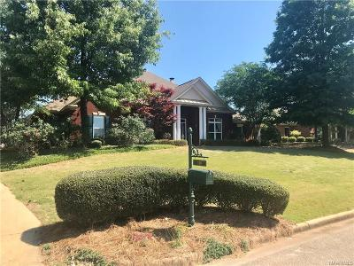 Wetumpka Single Family Home For Sale: 169 Mountain Meadows Lane