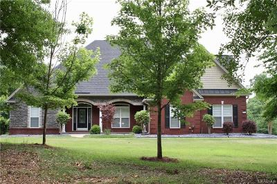 Wetumpka Single Family Home For Sale: 159 Jackson Trail