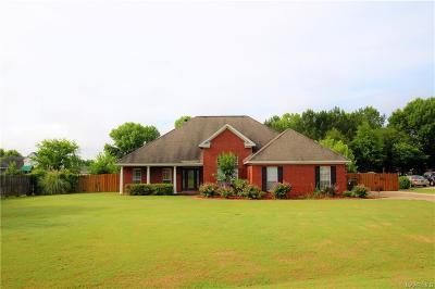 Wetumpka Single Family Home For Sale: 45 Cedar Ridge