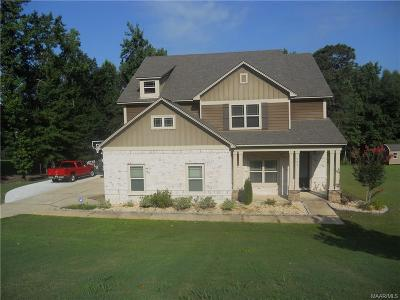 Wetumpka Single Family Home For Sale: 280 Sherwood Trail