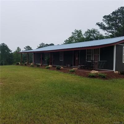 Rural Single Family Home For Sale: 77954 Tallassee Highway