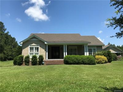 Selma Single Family Home For Sale: 11041 Alabama Hwy 140 Highway