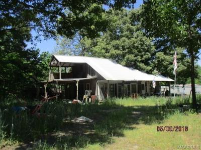 Autaugaville Single Family Home For Sale: 3210 County Rd 78 Road