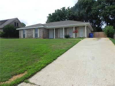 Prattville AL Single Family Home For Sale: $109,900
