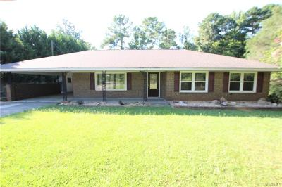 Wetumpka Single Family Home For Sale: 103 Pauline Circle