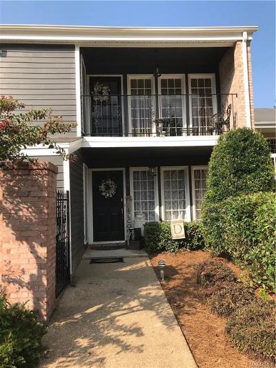 Montgomery AL Condo/Townhouse For Sale: $149,000