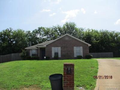 Montgomery AL Single Family Home For Sale: $109,900