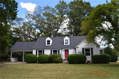 Wetumpka Single Family Home For Sale: 500 N Pine Street