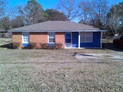 Montgomery AL Single Family Home For Sale: $45,000