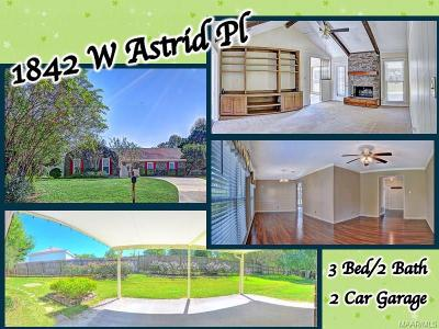 Montgomery Single Family Home For Sale: 1842 W Astrid Place