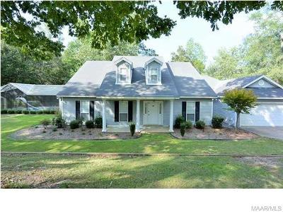Wetumpka Single Family Home For Sale: 818 Stoddard Drive #A