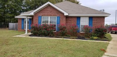 Wetumpka Single Family Home For Sale: 208 King Cotton Lane
