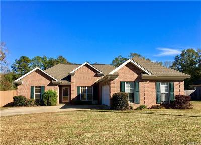 Single Family Home For Sale: 8676 Coosada Road