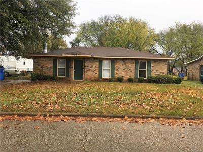 Prattville AL Single Family Home For Sale: $67,000