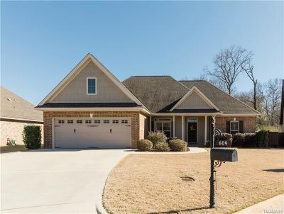 Prattville Single Family Home For Sale: 609 Ashton Oak Drive