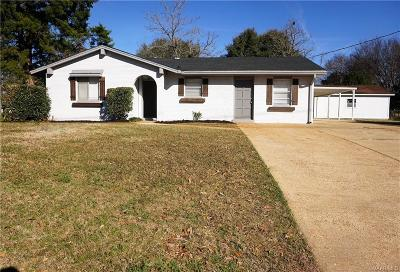 Prattville AL Single Family Home For Sale: $162,500